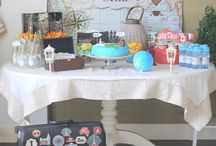 Travel themed birthday party / Travel themed birthday party digital files