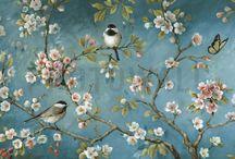 Mural pájaros