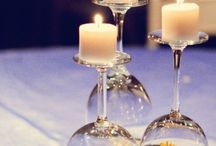 glassware w/candles