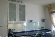 Küchenrückwände aus Glas / Glaserei Seibicke Hamburg - Glasrückwände sind trendy - hygienisch - pflegeleicht