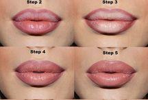 como pintar labios y tener más volumen .