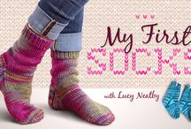 my second Craftsy Class: My First Socks / Come and join the fun as I teach you how to knit your own pair of socks! / by Lucy Neatby