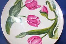 porselein schilderen 3  bloemen en planten