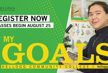 Fall 2016 Registration Posters and Slides / Posters and digital slides created to supplement Kellogg Community College's Fall 2016 semester registration campaign. Fall 2016 classes begin Aug. 25. For more information, visit www.kellogg.edu/registration.