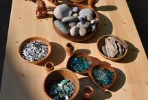 Outdoor pebbles and creating patterns