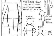 Aikuisen ja lapsen mittasuhteet/piirros