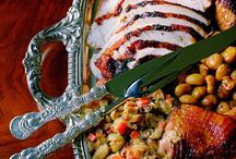 Coastal Thanksgiving / It's all about the table.  Dinnerware, glassware, flatware, linens, food and of course the tablescape.