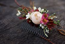Floral, flower hair accessories