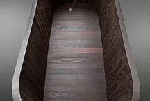 houten bad