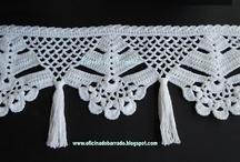 guardas y cortinas crochet
