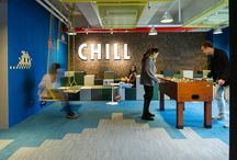 Office blue grey