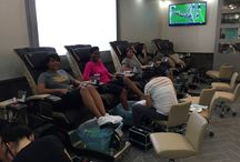 Pedicures at Treat Your Nails / Our clients getting pedicures.