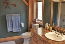 Timber frame bathrooms. / Ever wondered how the bathroom would look in your timber frame dream home? Here's some inspiration.