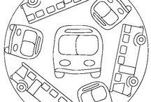 Színezők-feladatlapok közlekedés