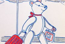 GSBears illustrations / Illustrations of our Teddy Bears that reflect different daily situations, all related to different emotions, mainly love and charm...