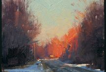 landscape paintings / landscape paintings and architecture paintings