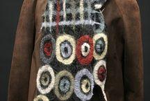 шарфы и одежда войлок