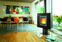 Wood Burning Stoves for Kitchens / Pictures of wood Bunring #Stoves installed in #kitchens or #Diniing #rooms. #interiors #interiordesign #propertyphotography #openplan #kitchengoals
