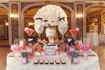 Candy, flowers, wedding