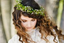 wedding dress+ hair / ideias