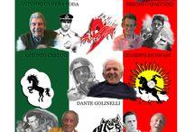 Le Pan prima della Pan / Storia delle pattuglie acrobatiche italiane dal 1950 al 1960. Prima delle Frecce Tricolori c'erano loro e segnarono un'epoca.  Con  ANTONIO CAMERA RODA * SERGIO CAPACCIOLI  * ANTONIO CERIANI * GIUSEPPE DUGNANI * DANTE GOLINELLI * FERDINANDO SGUERRI * CLAUDIO VEZZI Da un'idea di Paolo Monti Ricerche storiche Franco Manini Produzione Lorenzo Ruffini Musiche Michele Ruggiero Regia Claudio Costa