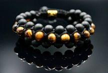 Men's 3 Raw Shamballa Bracelets