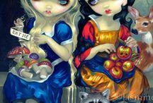 Snow white and Alice.