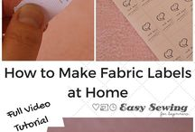 How to make fabric name tags