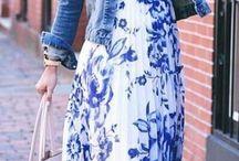 Flower Dress Blue Outfit