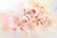 Navin Tantanadaecha rose flores watercolor