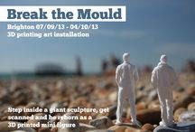 Break the Mould - 3D scanning and printing / 3D body scanning and 3D printing art installation at the Brighton Digital Festival 2013