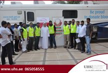 "UHS, Sharjah Blood Transfusion Center & Indian Cultural Society conducted Blood Donation Campaign / Under His Excellency, Dr. Abdul Aziz Al Muhairi, Director of Sharjah Health Authority and Vice Chairman of  Board of Trustees, University Hospital Sharjah, in cooperation with Indian Cultural Society and Sharjah Blood Transfusion Center, Ministry of Health conducted a blood donation campaign themed ""Save a Life, Give Blood"" on Friday May 29th."