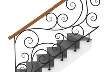Railings for Front Door Stairs