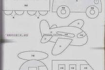tegnede biler,tog og fly