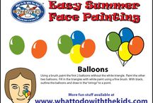 Easy Summer Face Painting Designs / A great collection of simple and easy face painting designs for summer.