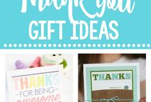 Fun Thank You Gifts / Fun ways to say thank you-here are a bunch of cute thank you gifts and ideas to make it easy to show your appreciation and gratitude to friends, teachers, coworkers or anyone that you want to thank!