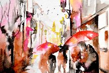 water color painting romance