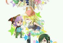 Kobayashi, Tohru, Kanna and friends