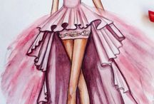 Dresses Drawings