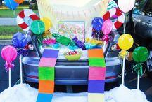 trunk or treat decorating ideas / Trunk ideas