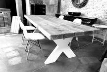 Wood design Xlab Made in Italy Tavolo stile rustico vintage / Xlab tavolo in vero legno massello originale e fatto a mano in Italia.