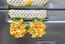 Puxador de geladeira de croche