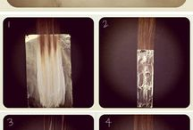 it's how to make ombre hair. you can do it your self ^^