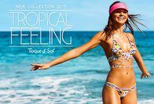 """TROPICAL FEELING SS2015 / Nuestro nuevo lanzamiento """"Tropical Feeling"""" se inspira en la belleza y sensaciones que nos regalan los más hermosos paisajes de las playas de nuestro país y del mundo. Amamos el verano, por eso esta colección expresa un sin fin de sensaciones que nos recuerdan el mar, la arena, la brisa marina, las pieles bronceadas, el verano, los cielos azules y las palmeras..."""