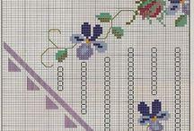 κεντημα με λουλουδια (σχεδιο)