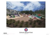 Park 570 - New Park Development / Coming soon! New park in the Lake View Neighborhood (1230 W. School Street). The new park will include a new playground, rubberized surfacing, spray feature, pathway improvements, lighting, seating, and landscaping.  / by Chicago Park District