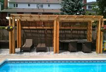 Interlocking Pool Deck with Cedar Pergola