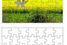 puzzle sablon