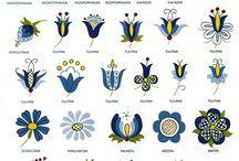 (west/east) Slavic folk - patterns / Słowiańskie wzory ludowe Slovanské folklórní vzory