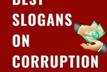 Slogans on Corruption